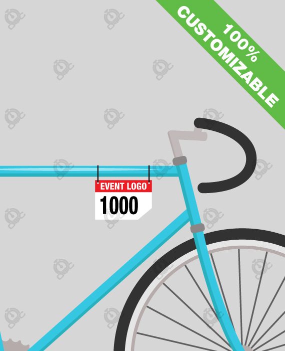 Double-sided PVC Bike frame number 13x9 cm - OTC S.r.l.